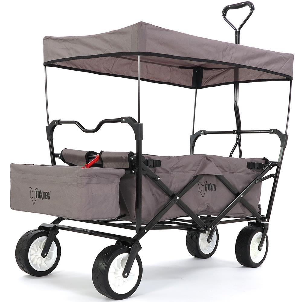 bollerwagen faltbar fuxtec grau faltbarer strandwagen handwagen ger tewagen ebay. Black Bedroom Furniture Sets. Home Design Ideas