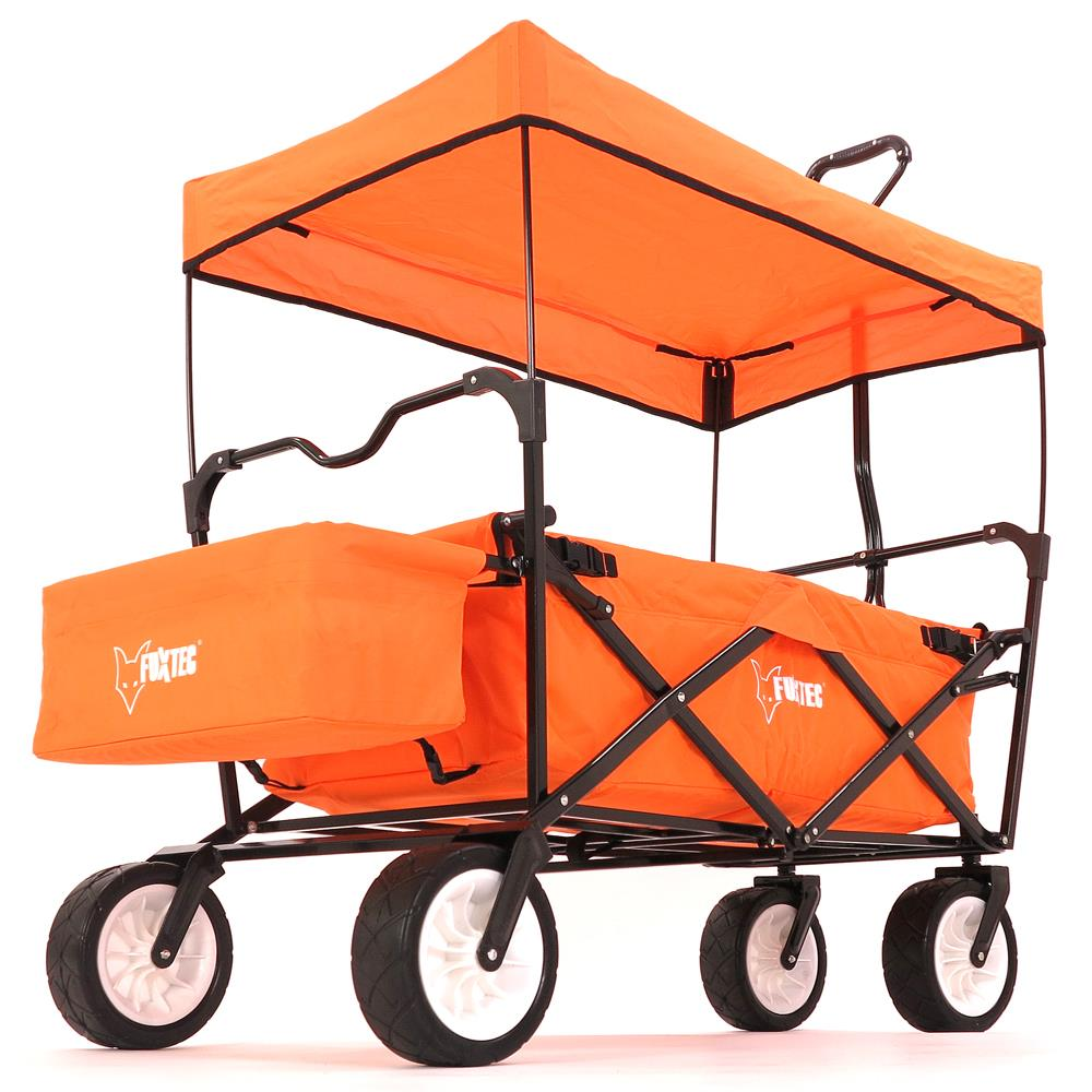 bollerwagen in signalfarbe fuxtec faltbarer strandwagen. Black Bedroom Furniture Sets. Home Design Ideas