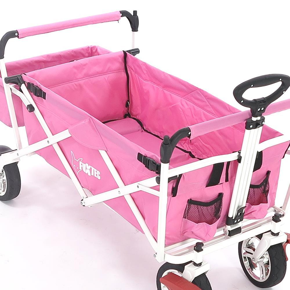 faltbarer bollerwagen fuxtec strandwagen rosa handwagen ger tewagen faltbar ebay. Black Bedroom Furniture Sets. Home Design Ideas