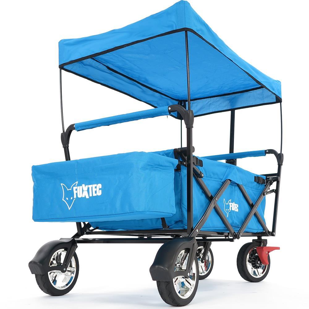 fuxtec faltbarer bollerwagen t rkis strandwagen handwagen ger tewagen faltbar ebay. Black Bedroom Furniture Sets. Home Design Ideas