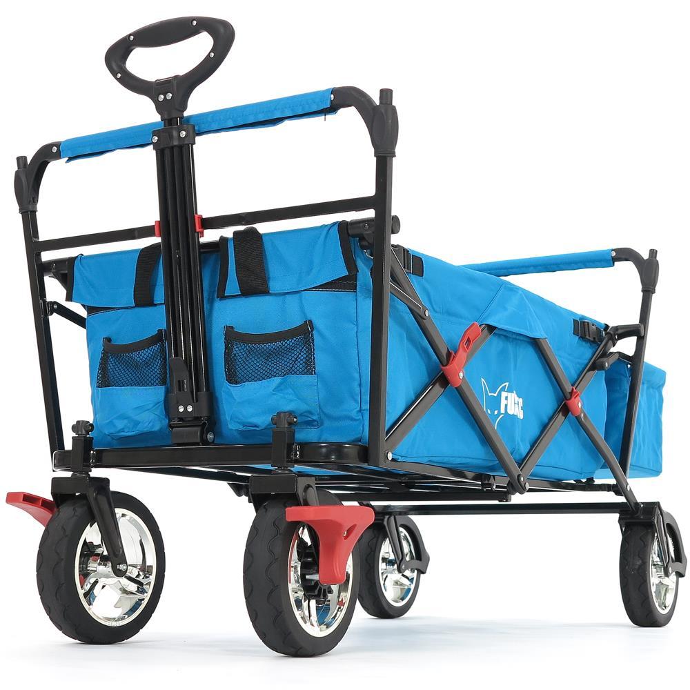 fuxtec faltbarer bollerwagen t rkis strandwagen handwagen. Black Bedroom Furniture Sets. Home Design Ideas
