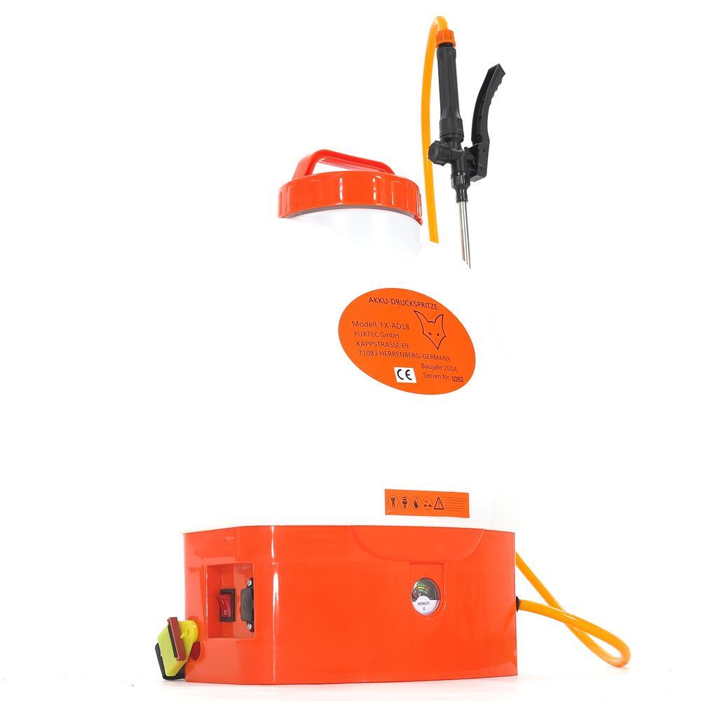 fuxtec ad18 battery sprayer back support bar battery. Black Bedroom Furniture Sets. Home Design Ideas