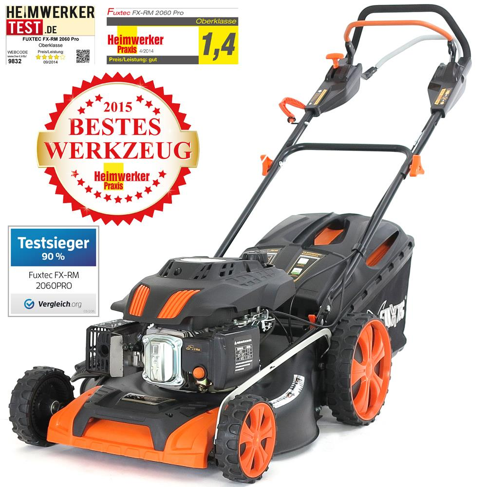 profi benzin rasenm her mit antrieb fx rm2060pro motorm her benzinm her mulcher ebay. Black Bedroom Furniture Sets. Home Design Ideas