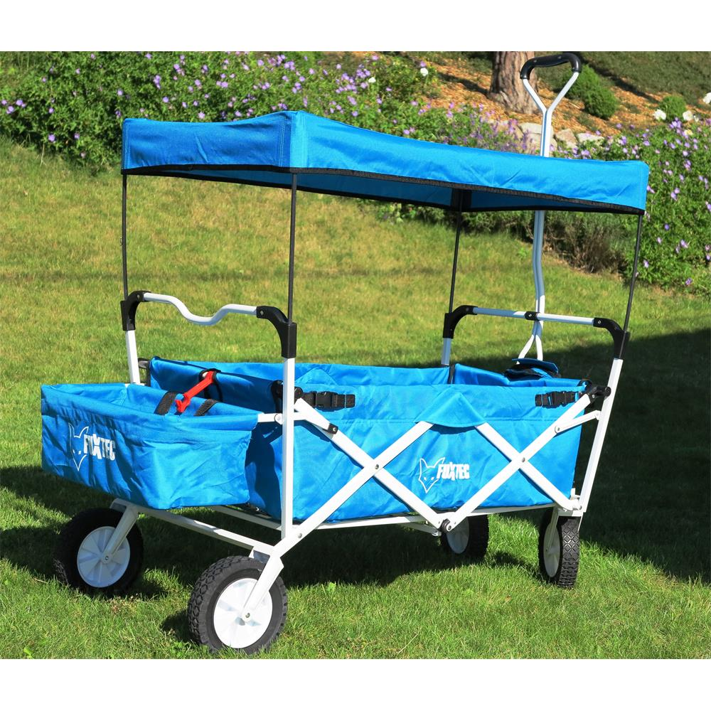fuxtec jw76a blau faltbarer bollerwagen mit dach. Black Bedroom Furniture Sets. Home Design Ideas