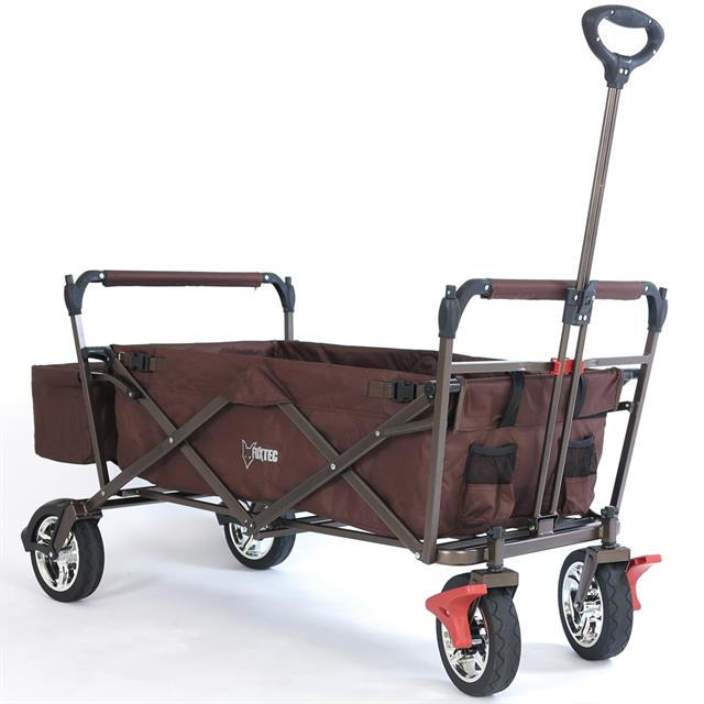 bollerwagen schoko fuxtec faltbarer strandwagen handwagen ger tewagen faltbar ebay. Black Bedroom Furniture Sets. Home Design Ideas