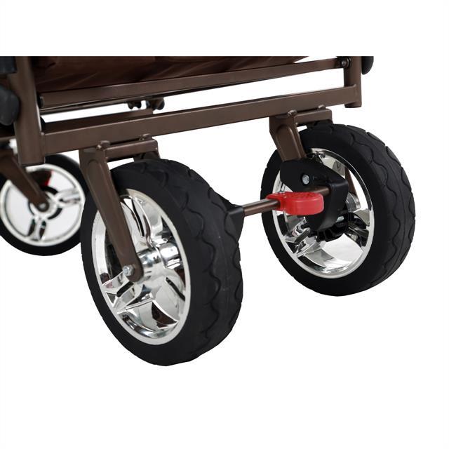 fuxtec bollerwagen ct 700 braun uv gesch tztes sonnendach schiebegriff ebay. Black Bedroom Furniture Sets. Home Design Ideas