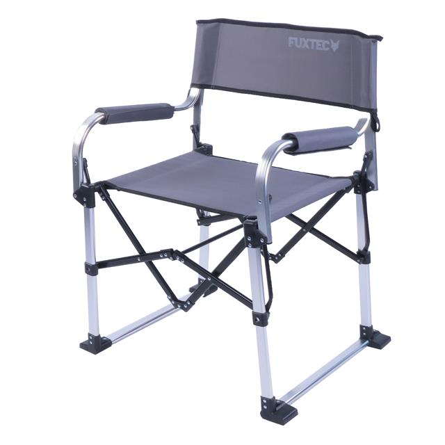 fuxtec alu klappstuhl fx nc117 grau camping garten stuhl. Black Bedroom Furniture Sets. Home Design Ideas