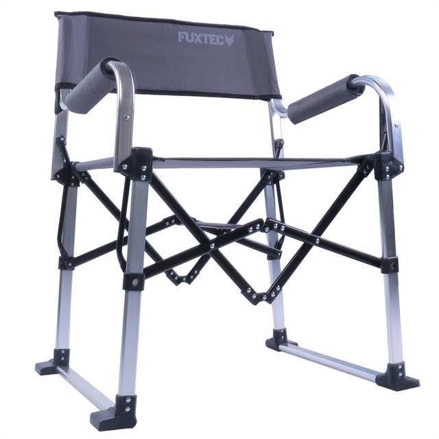 fuxtec camping klappstuhl alu fx nc117 grau garten stuhl faltstuhl anglerstuhl eur 19 00. Black Bedroom Furniture Sets. Home Design Ideas