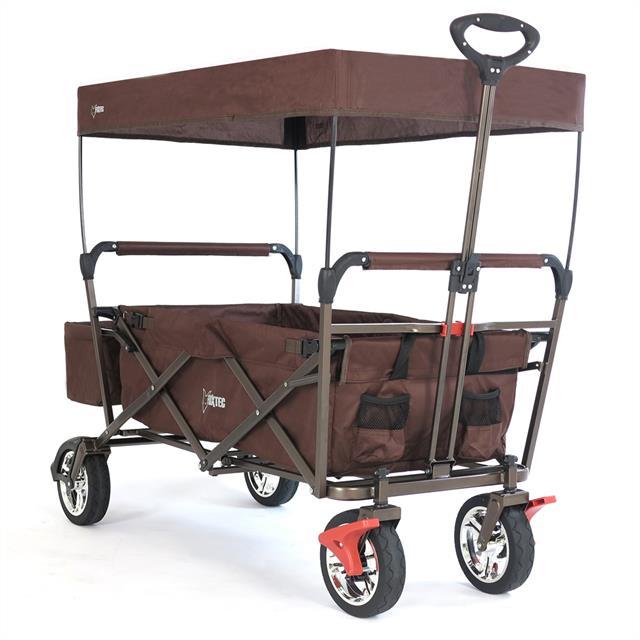 fuxtec fx ct500 bollerwagen mit sonnendach braun ebay. Black Bedroom Furniture Sets. Home Design Ideas